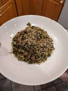 Food trends, Rice and veggies